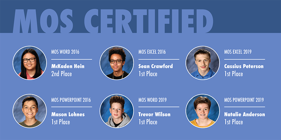 MOS certified students