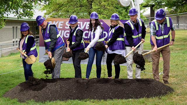 Photo of the LSHS Groundbreaking Ceremony