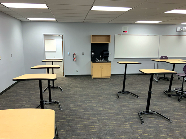 One of the modernized classrooms