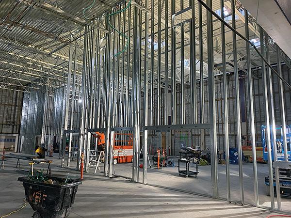 Steel framing for interior walls