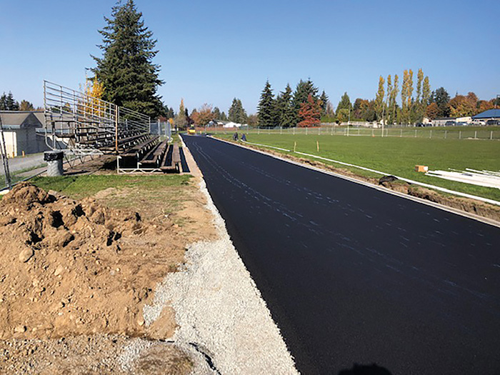 The new asphalt track at LSMS