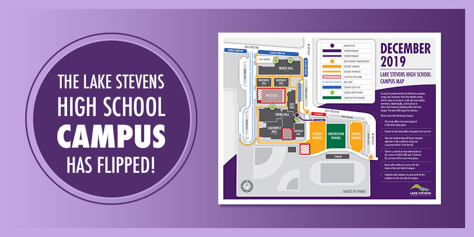 The LSHS campus map for December 2019