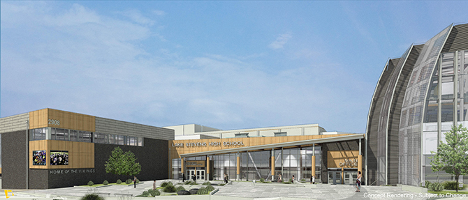 Another render of the new Lake Stevens High School