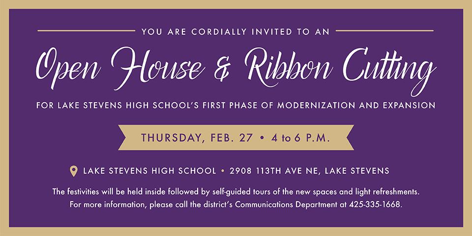 Purple and gold invitation