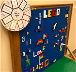 Lego wall and table