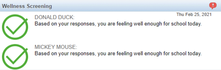 Example of no response