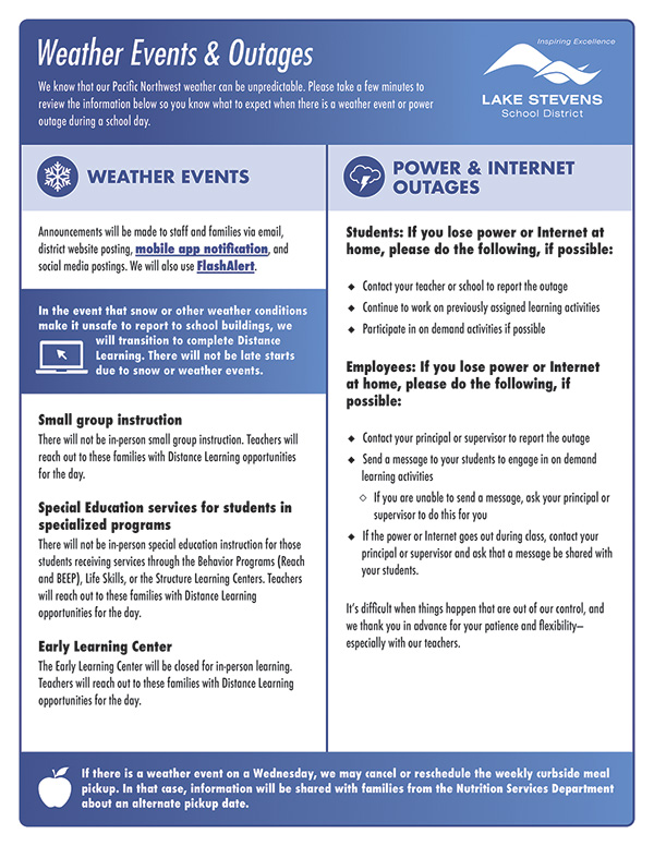 Weather Events & Outages flyer