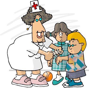 Nurse helping patients