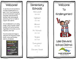 Cover page of kindergarten brochure