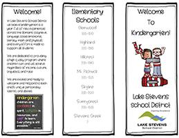 Cover page of kindergarten brochure
