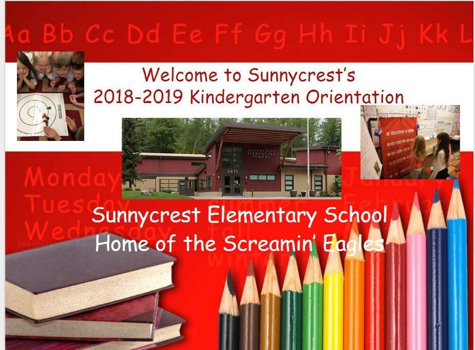 Sunnycrest Kindergarten Presentation 2018