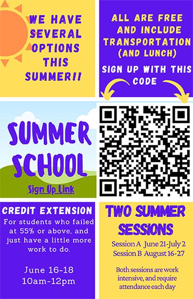 Summer school 2021 flyer
