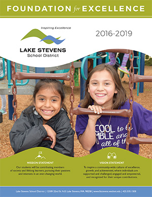 Program front cover with two girls smiling