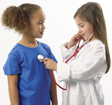 Children with stethoscope